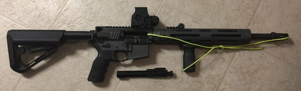 AR Dry Fire With Bolt Removed & 550 Cord