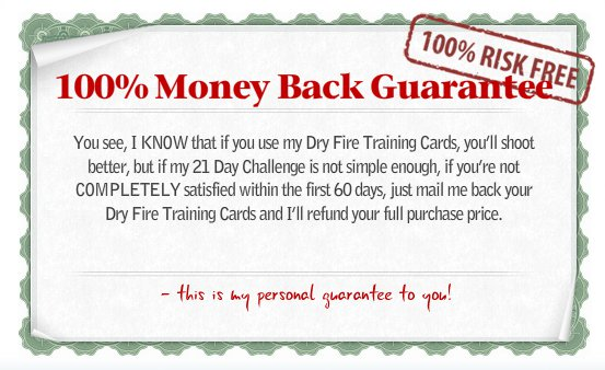 Dry Fire Training Cards Guarantee