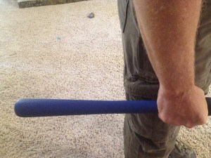 Hammer/broom handle drill using icepick hold